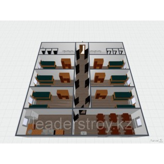 Жилые здания общежития из 20 или 40 футовых контейнеров